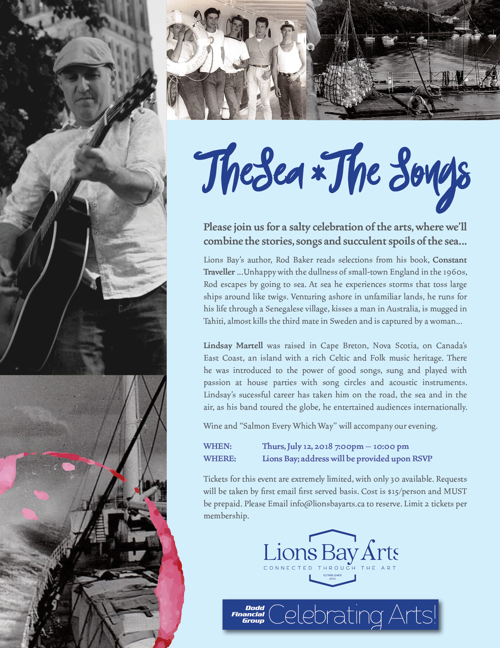 The Sea, The Songs! – 2nd in the Celebrating Arts! Series